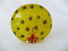 Vintage Glass Paperweight - Glass Peacock Paperweight - Yellow Glass Paperweight