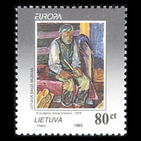 Lithuania 1993 - EUROPA Stamps - Contemporary Art - Sc 472 MNH