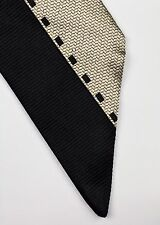 PRADA TIE WOVEN SILK ABSTRACT SLANTED TIP BLACK GOLD DESIGNER MEN