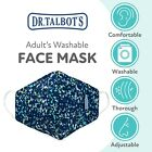 Dr. Talbot's Adult Cup-Shaped Cloth Face Mask - Colored Spackle Print- Washable