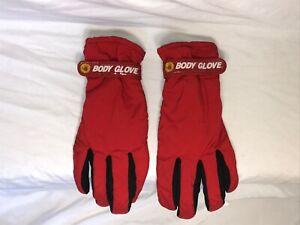 Body Glove Thinsulate Gloves Red Winter Ski Gloves