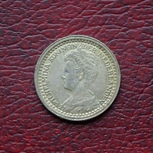 Netherlands 1919 silver 10 cents
