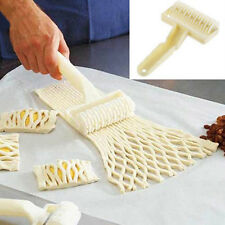 Dough Bread Cookies Pie Cakes Lattice Pastry Cutter Roller Home Kitchen Tool New