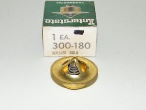Interstate Thermostat 180° 33-68 Buick Chevy Olds Willys Jeep 40-56 Packard