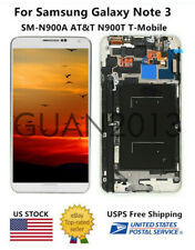 WOW LCD Touch Screen Digitizer FRAME For Samsung Galaxy Note 3 N900A N900T White