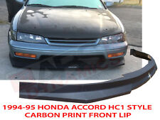 1994 1995 HONDA ACCORD COUPE SEDAN HC1 STYLE FRONT BUMPER LIP CARBON PRINT NONV6