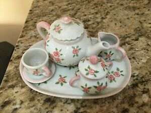 PORCELAIN MINI ROSE TEA SET 7PCS.
