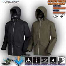 Mens Waterproof Jacket Hiking Camping Outdoor Work Raincoat Hoodie Hartiga