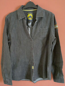 New Genuine BMW Motorrad Ladies Grey Long Sleeve Roadster Denim Shirt XL UK 14
