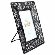 """-standing Patterned Black Metal Photo Frame 10x15cm 7x9"""" Picture"""