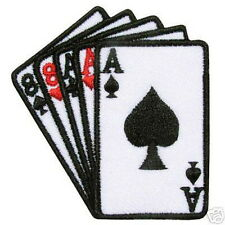 Triple Ace Double 8 Gamble Card Embroided Iron on Patch