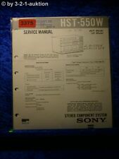 Sony Service Manual HST 550W Component System (#3375)