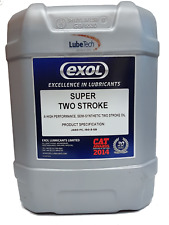 EXOL Semi Synthetic Super 2 Stroke Oil 20ltr Jaso FC Inc Delivery to HIGHLANDS