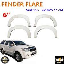 White Fender Flares Wheel Arch for Toyota Hilux SR5 SR 2011-2014 6 Inch 6pcs