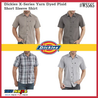 Dickies Men's Yarn Dyed Plaid Shirts X-Series Moisture Wick Short Sleeve #WS565