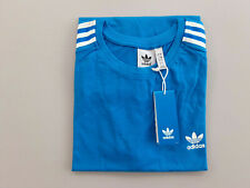 Adidas T-Shirt New 3-Stripes On Sleeve And Logo Blue With Tags 2020
