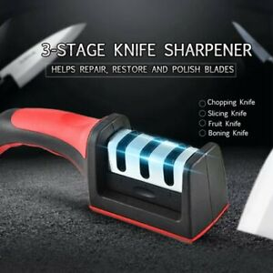 Generic Kitchen Knife Sharpener 3 Stage Steel Ceramic Coated Kitchen Sharpening