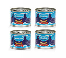 4x Cans Sweetened Condensed Milk MOLOKO Natural Coffee Sweetener 90g 3.2oz