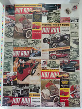 Vintage Hot Rod Magazine Poster w/ Cover Art 50's 60's Ala Kart Barris Indy HRM