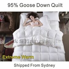 EXTREME WARM 95% WHITE GOOSE DOWN Quilt Doona Duvet Single/Double/Queen/King