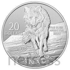 Canada 2013 Gray Wolf $20 Pure Silver Different Finish Specimen Coin Perfect