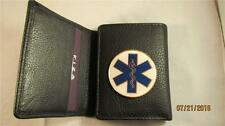 EMS EMT CNA PARAMEDIC HIGH GRAIN QUALITY BLACK LEATHER TRIFOLD WALLET