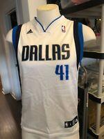 Dirk Nowitzki Dallas Mavericks Large youth Jersey white 41