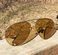 VTG 1960's BL Ray Ban Ambermatic Outdoorsman Aviator All Weather Sunglasses