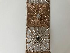 ATTRACTIVE INDIAN JALI ROSEGOLD PEARLS CRYSTALS MIRRORS LACE/TRIM - Sold By MTR