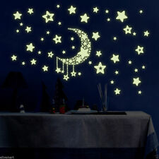 Fluorescent Moon and Stars Wall Sticker Room Decoration For Living Room Bedroom