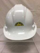 "North Safety Cap White Hard Hat Boh Bros. Construction Co Inc Fits Sz 6.5""-8"""