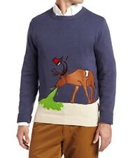 NWT Alex Steven Ugly Christmas Sweater Hungover Drunk Alcohol Reindeer Siz M A25