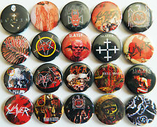 SLAYER Button Badges Pins Reign in Blood Show No Mercy Thrash Metal Lot of 20