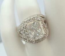 ACCENTS DIAMOND RING BAND SET 6.5 CT AWESOME 14 KT WHITE GOLD VS1 SIZE 5 6 7 8
