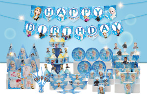 Frozen Elsa Happy Birthday Party Supplies and Decorations