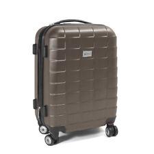 """Trolley Handgepäck Boardcase Cabin Reisekoffer Größe M Modell """"SQUARES"""" - BRAUN"""