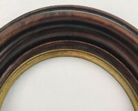 Antique Victorian Walnut Oval Primitive Arts & Crafts Painting Picture Frame
