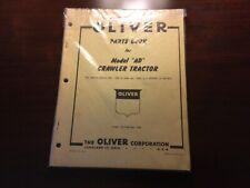 Oliver Cletrac Model Ad Crawler Parts Manual
