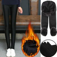 Winter Women Thick Fleece Leggings Lined Thermal Stretchy Skinny Pants Warm Hot