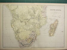 1882 LARGE ANTIQUE MAP ~ SOUTH AFRICA ~ CAPE COLONY TRANSVAAL MADAGASCAR