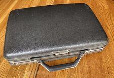 Beautiful American Tourister Combination Grey Briefcase Attache Hard Case 60s