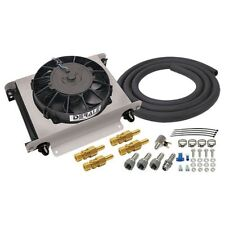 Derale 15660 Hyper-Cool 25 Row Stacked Plate Remote Engine Oil Cooler Kit -8AN