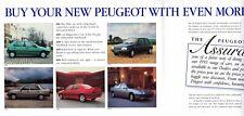 Peugeot Price Assurance 1993 UK Market Foldout Brochure 106 205 306 405 605