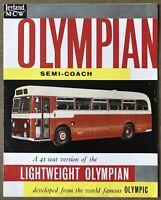 1959 Leyland MCW Olympian Semi Coach original British sales brochure