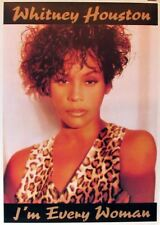 WHITNEY HOUSTON I'm every woman Large POSTER new rare !