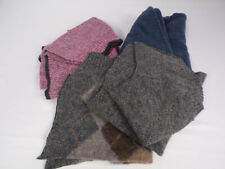 Felted Wool Large Pieces From Vintage Sweaters Blue Pink Gray Brown Crafting Euc