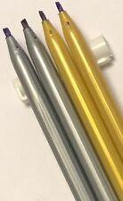 4 X CHISELED NIB CALLIGRAPHY PENS 1.5 & 2.5 BLACK BLUE INK CALLIGRAPHIC MARKER