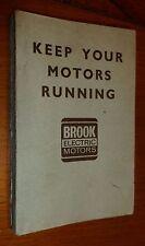 Engineering, Industry, Electric Motors, Brook Motor Corp., Chicago, Illinois