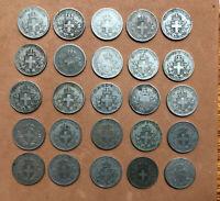 LOT OF 20: ITALY KINGDOM 20 CENTESIMI COINS 1918,1919-R VITTORIO EMANUELE III