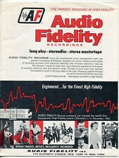 "Vintage ""Audio Fidelity"" Record Catalog: Al Hirt, Cha Cha, Risque Songs, Satchmo"